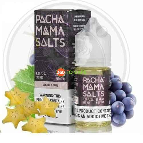 Starfruit Grape by Pachamama, Salt Nic 30ml, 25mg