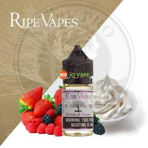Berries And Cream Salt By Ripe vapes 30ml 30mg/50mg